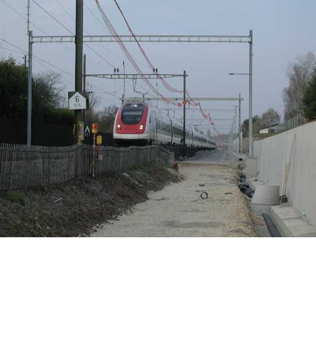 3e voie CFF Coppet - Genève